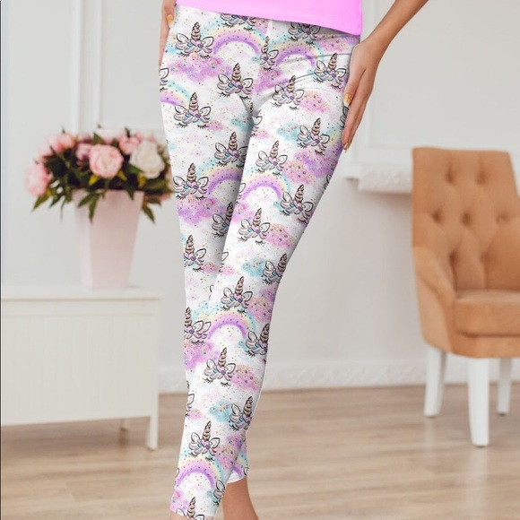 79e6cf0a5f175 Griggs Designs & Creations Pants   Unicorn Rainbow Sparkle Leggings ...